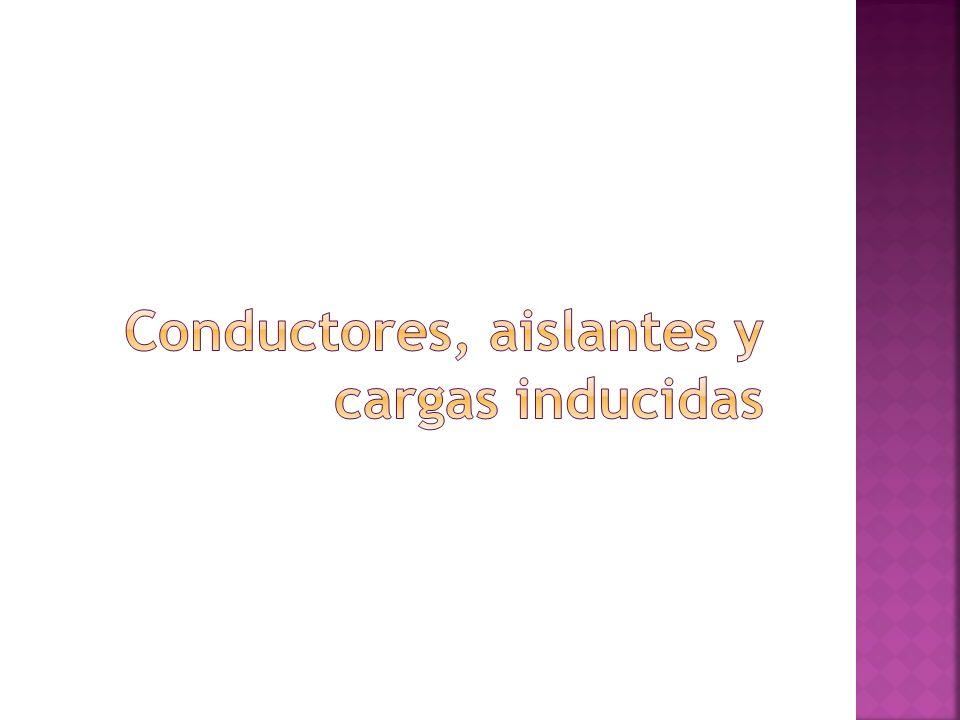Conductores, aislantes y cargas inducidas