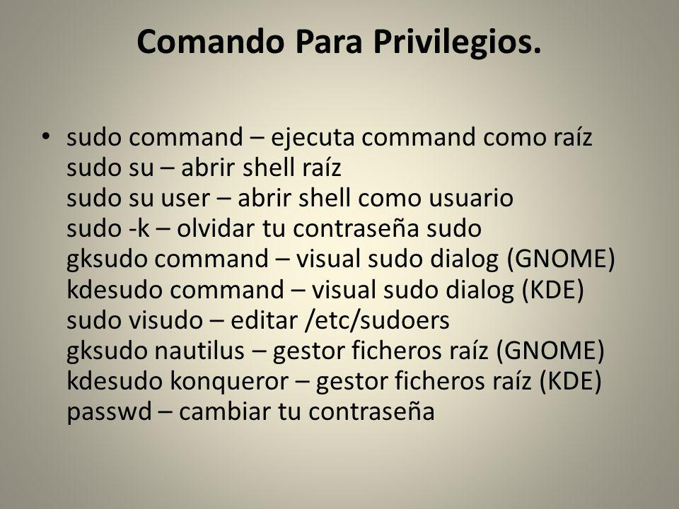 Comando Para Privilegios.