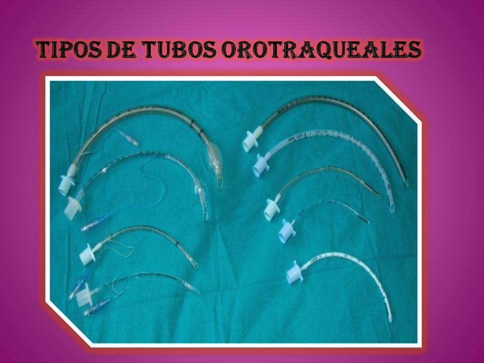 Tipos de tubos orotraqueales