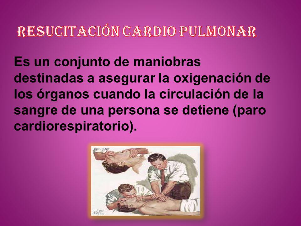 resucitación CARDIO PULMONAR