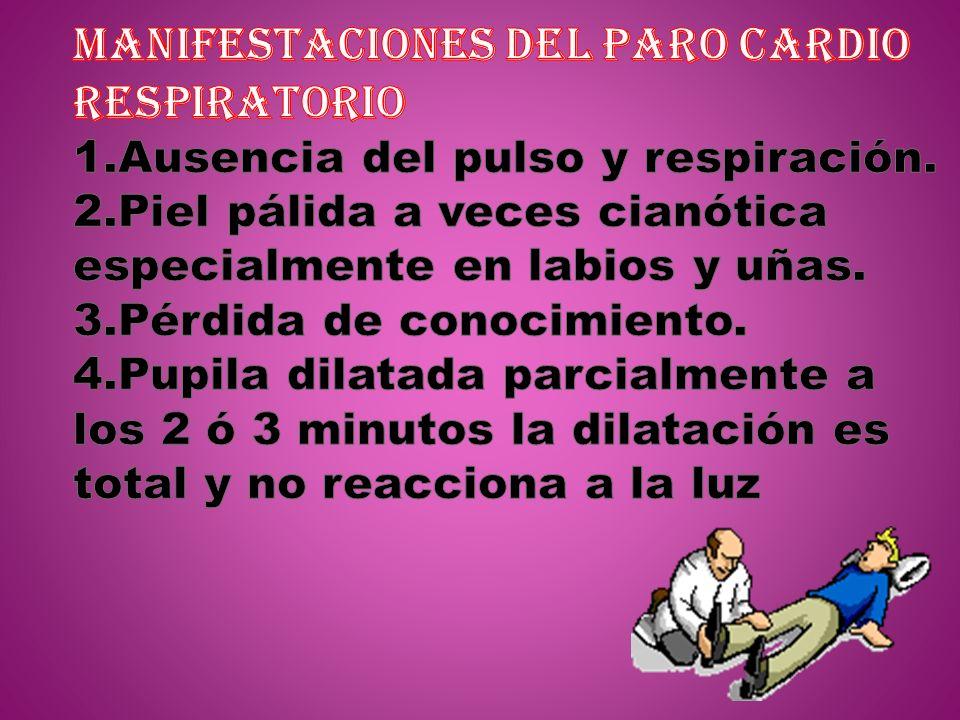 MANIFESTACIONES DEL PARO CARDIO RESPIRATORIO 1