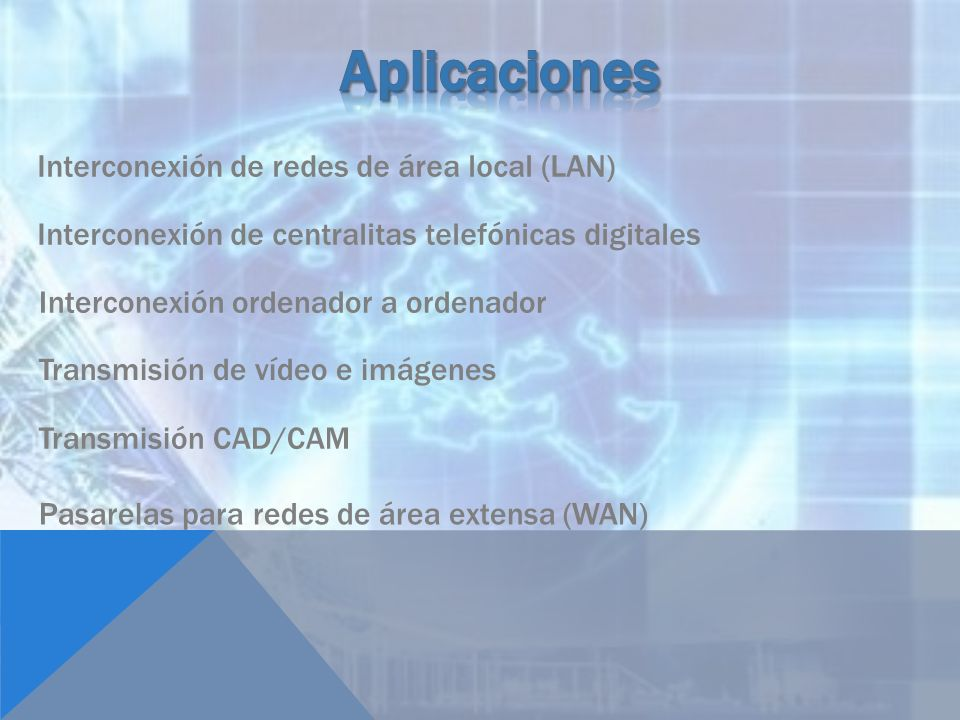 Aplicaciones Interconexión de redes de área local (LAN)