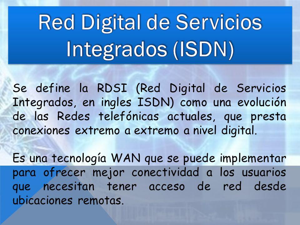 Red Digital de Servicios Integrados (ISDN)