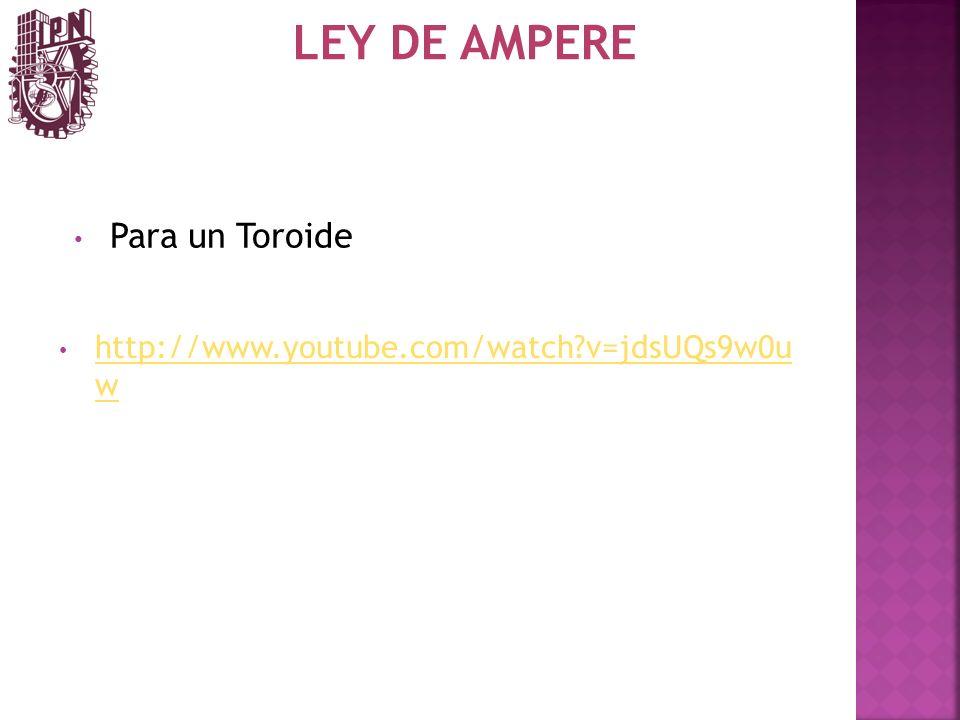 LEY DE AMPERE Para un Toroide