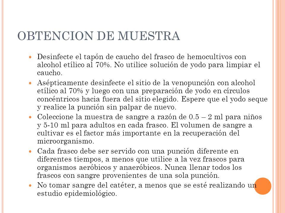 OBTENCION DE MUESTRA