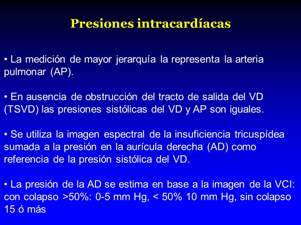 Presiones intracardíacas