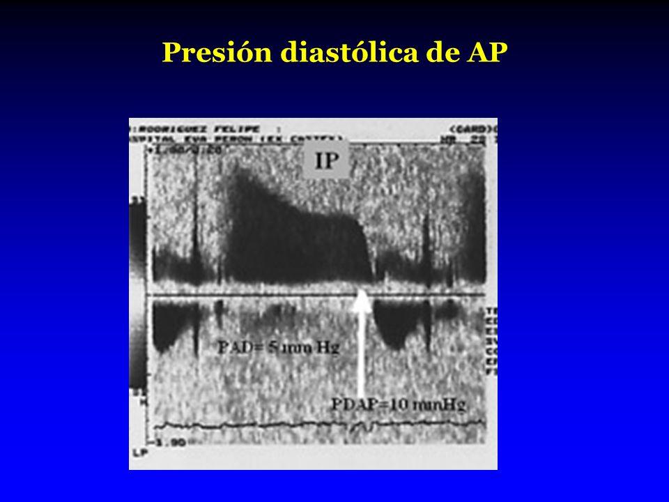 Presión diastólica de AP