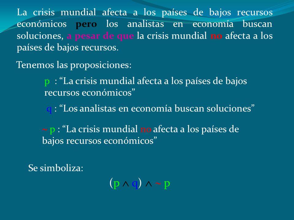 La crisis mundial afecta a los países de bajos recursos económicos pero los analistas en economía buscan soluciones, a pesar de que la crisis mundial no afecta a los países de bajos recursos.