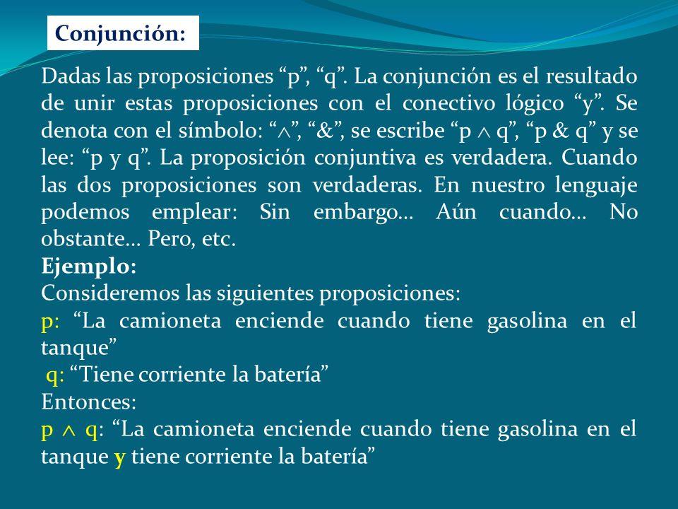 Conjunción: