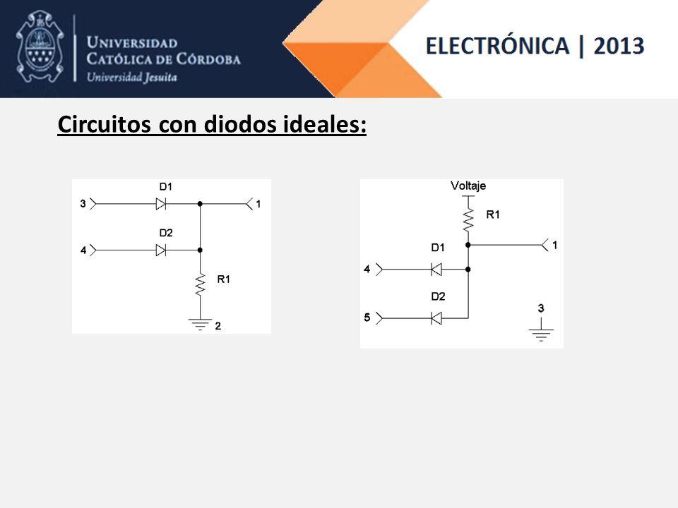 Circuitos con diodos ideales: