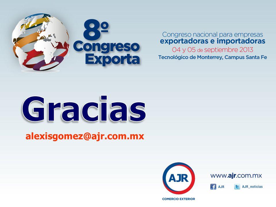 Gracias alexisgomez@ajr.com.mx