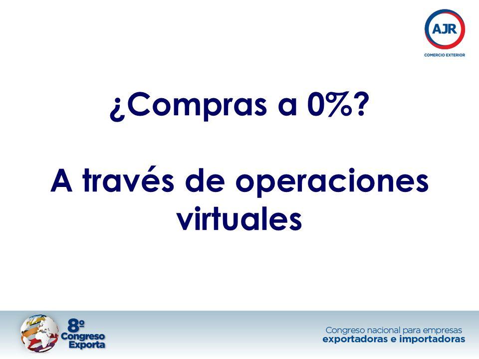 ¿Compras a 0% A través de operaciones virtuales
