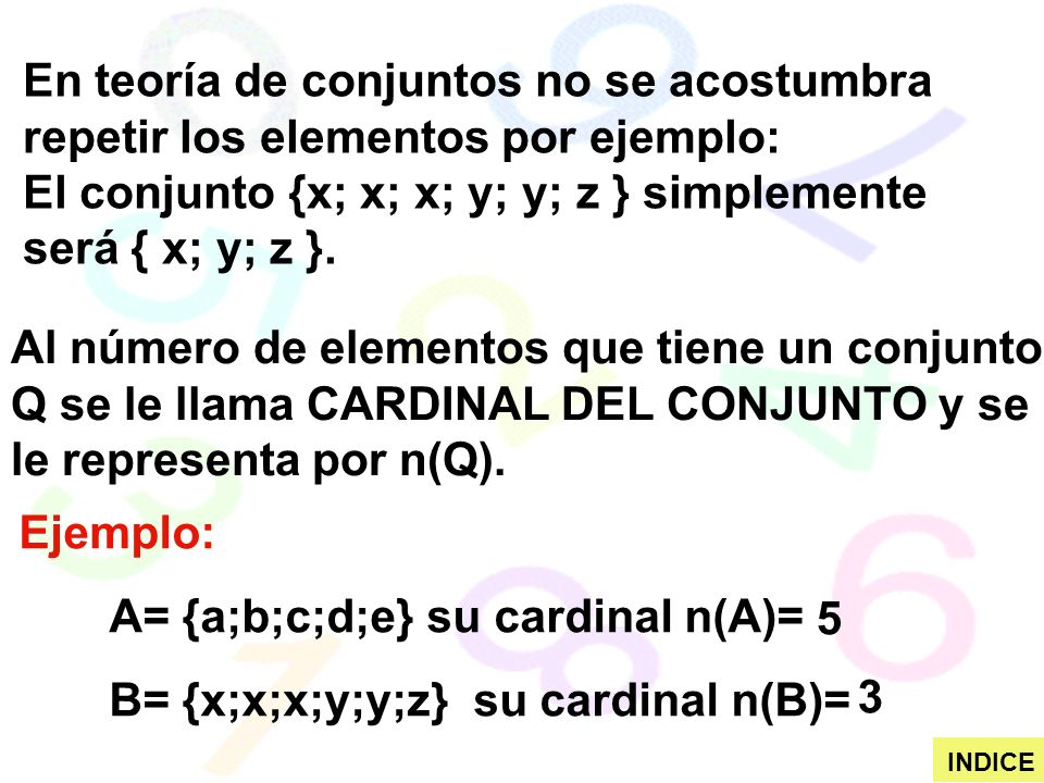 El conjunto {x; x; x; y; y; z } simplemente será { x; y; z }.