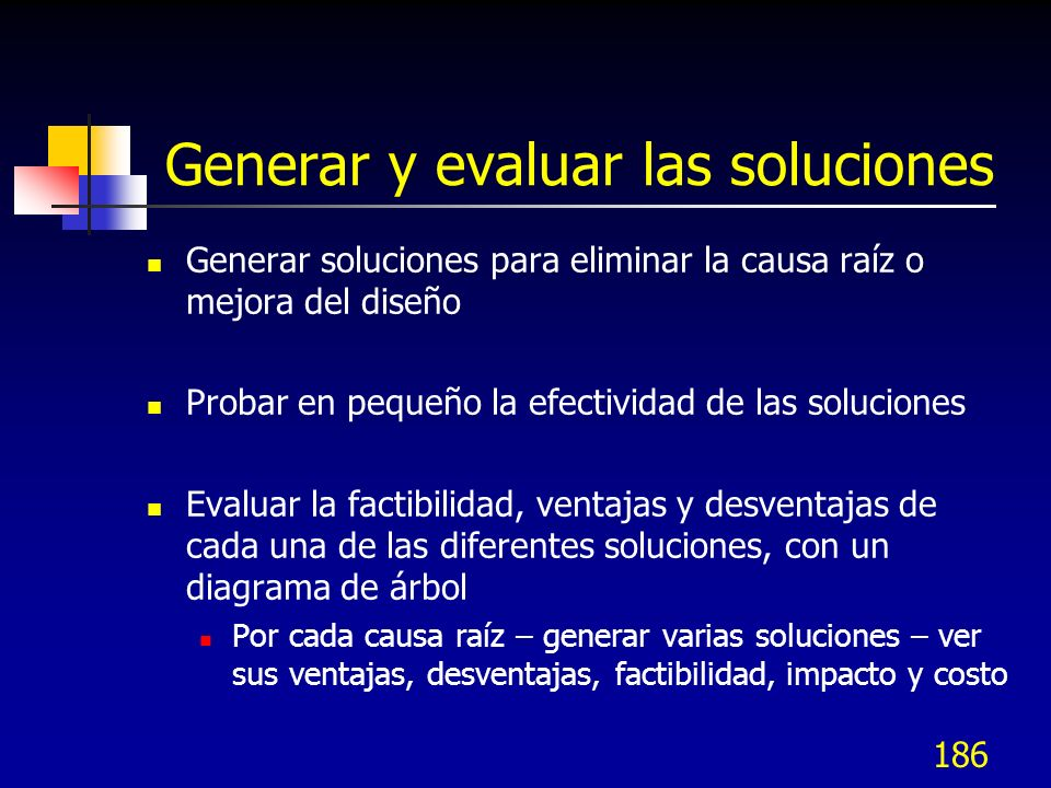 Generar y evaluar las soluciones