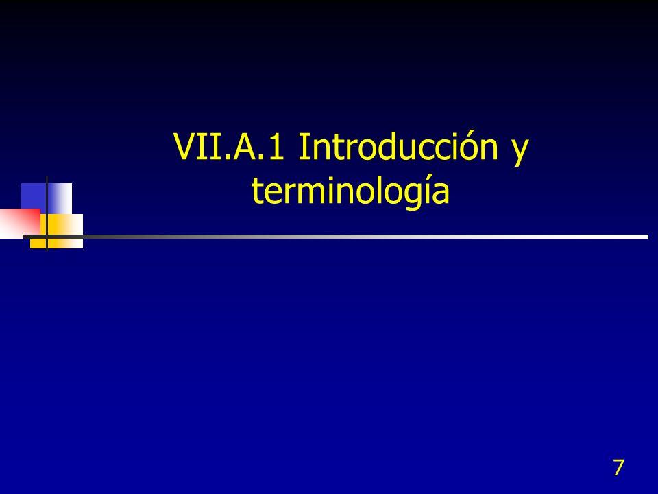VII.A.1 Introducción y terminología