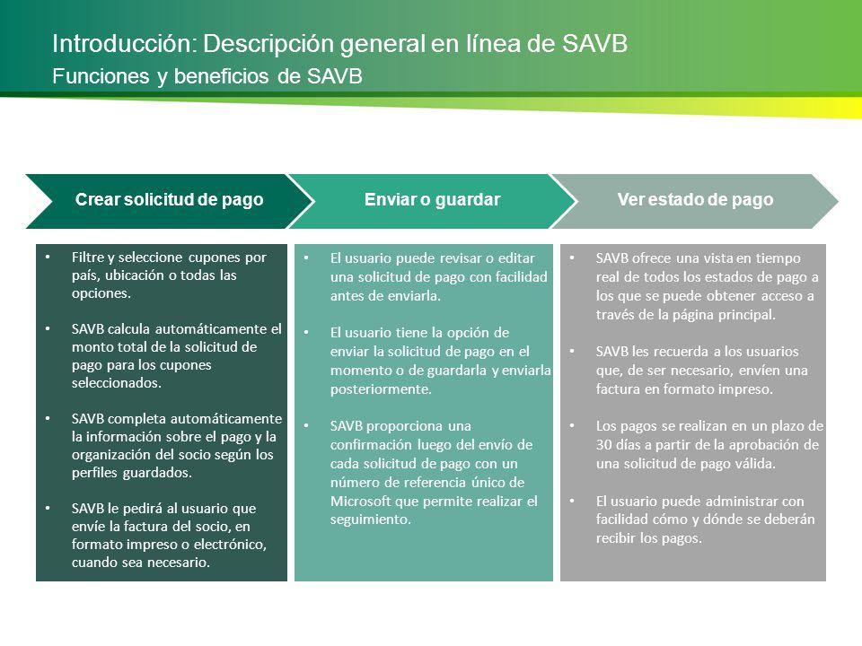 Introducción: Descripción general en línea de SAVB