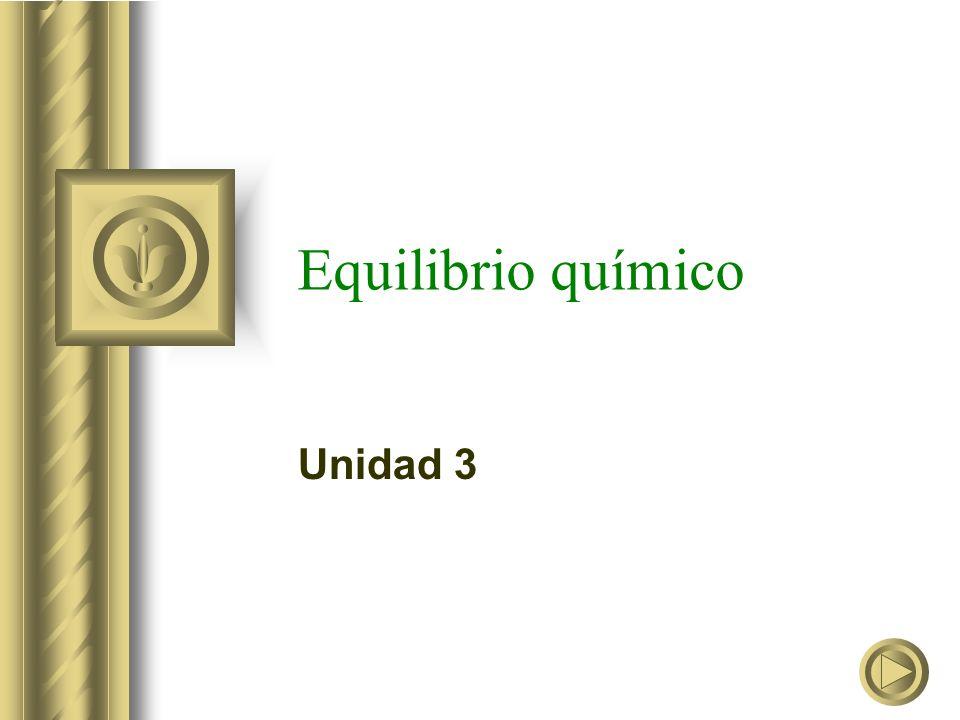 Equilibrio químico Unidad 3