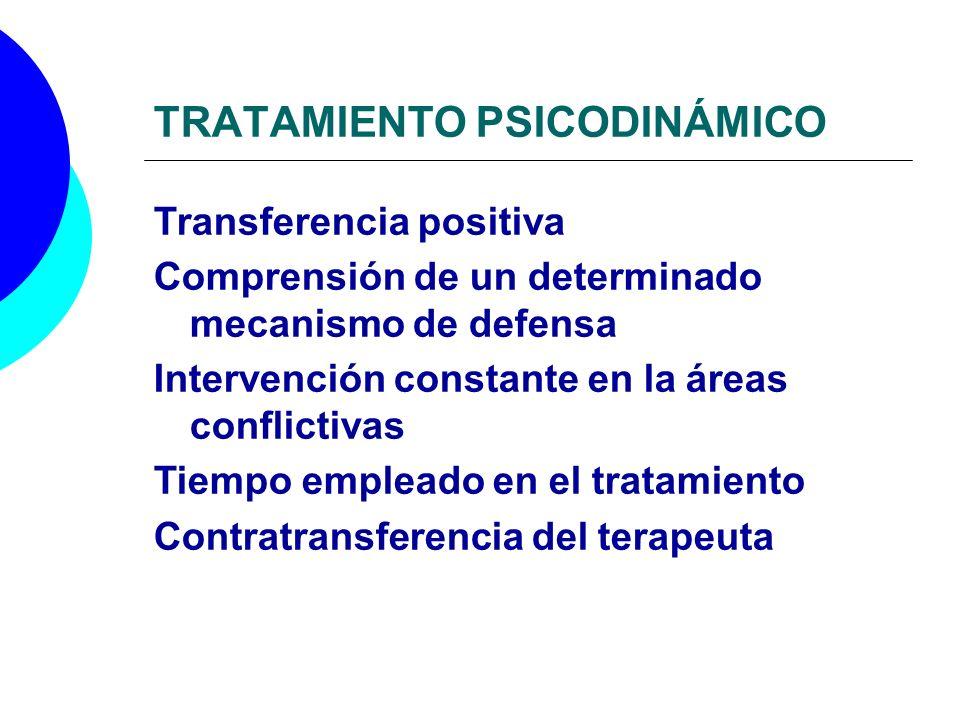 TRATAMIENTO PSICODINÁMICO