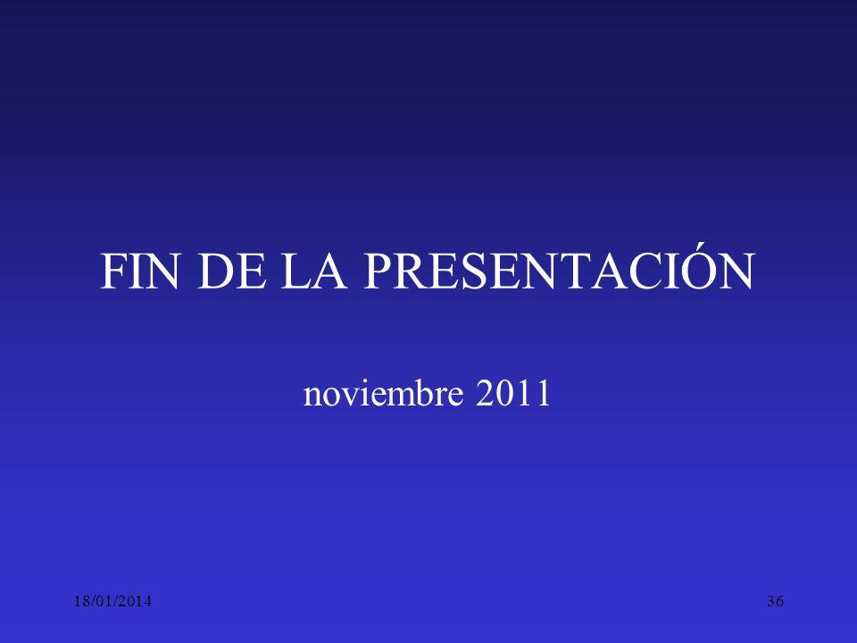 FIN DE LA PRESENTACIÓN noviembre 2011 24/03/2017