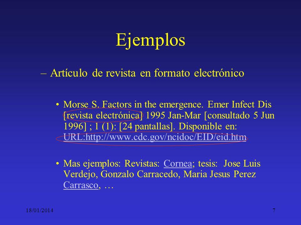 Ejemplos Artículo de revista en formato electrónico