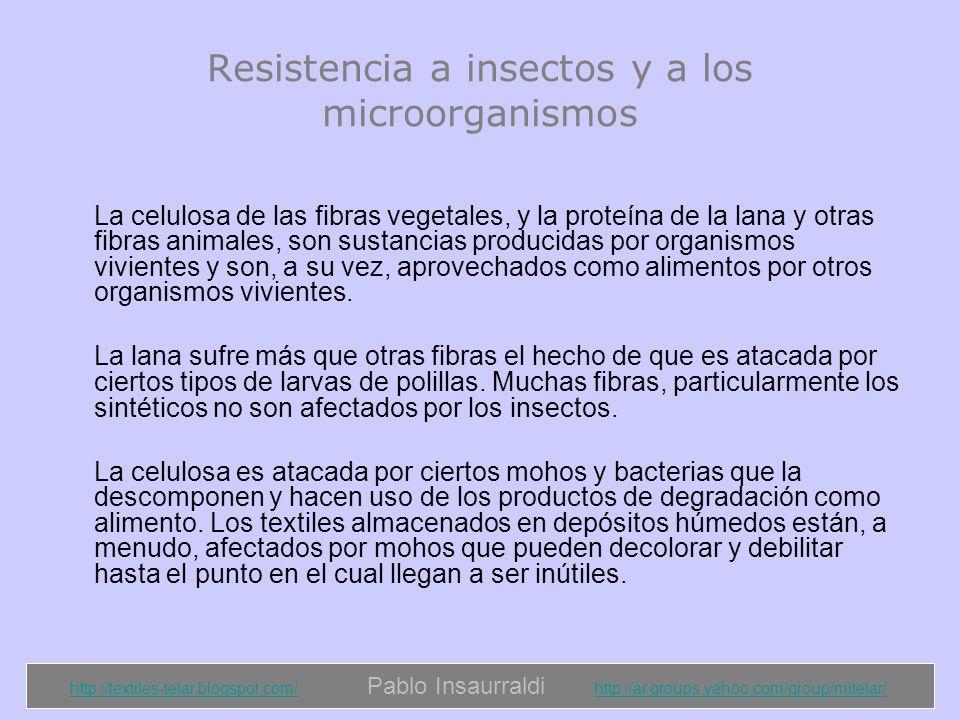 Resistencia a insectos y a los microorganismos