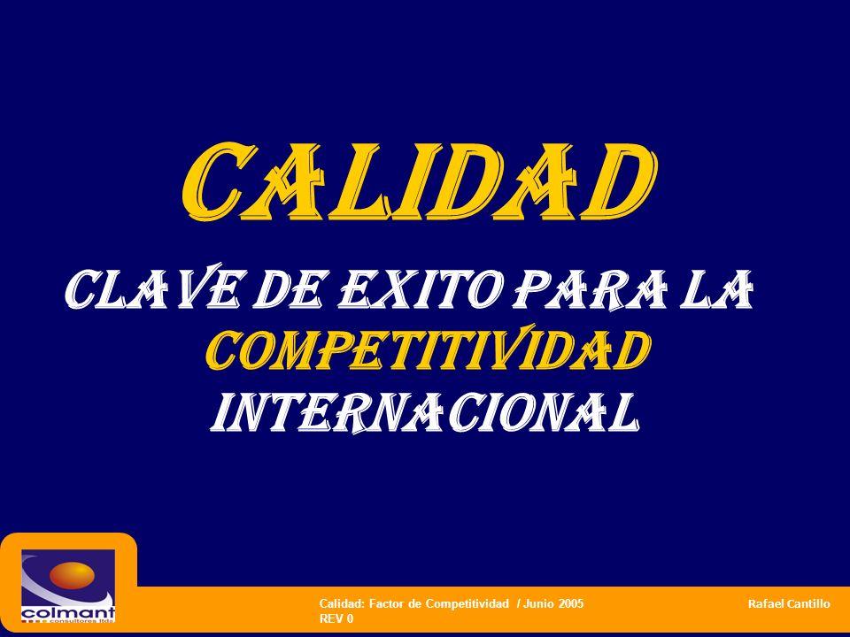 CLAVE DE EXITO PARA LA COMPETITIVIDAD INTERNACIONAL