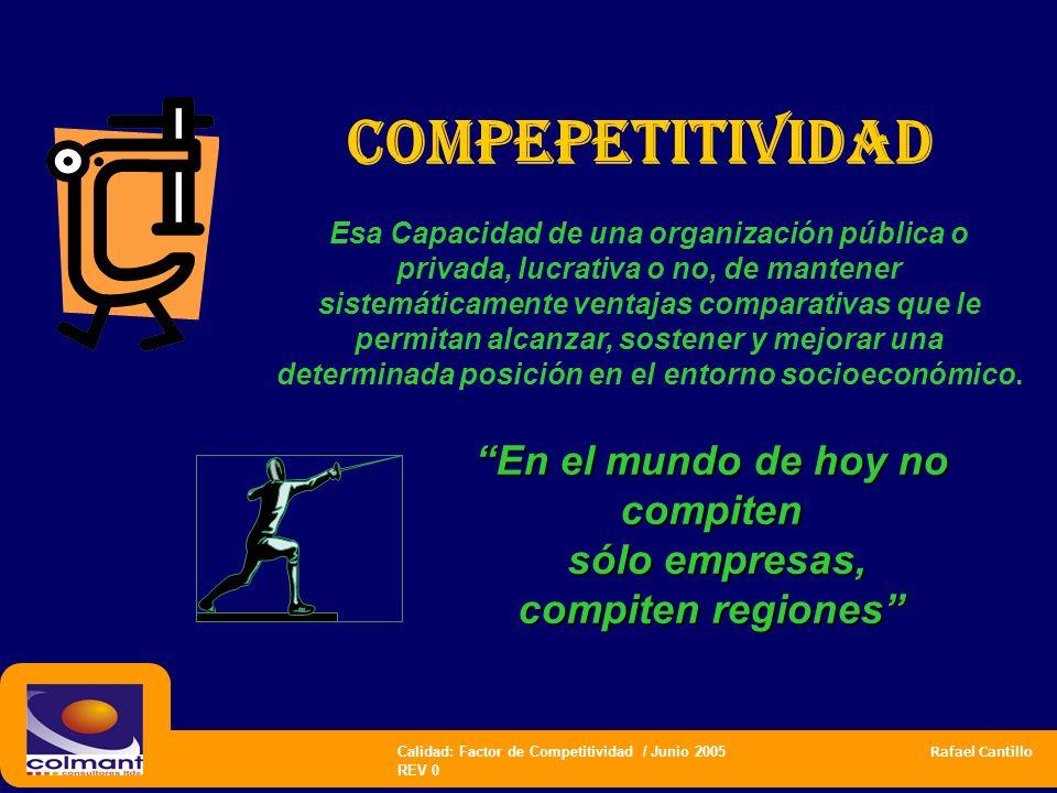 En el mundo de hoy no compiten sólo empresas, compiten regiones