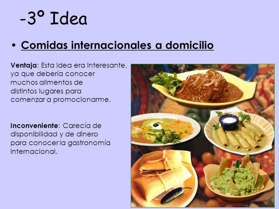 3º Idea Comidas internacionales a domicilio