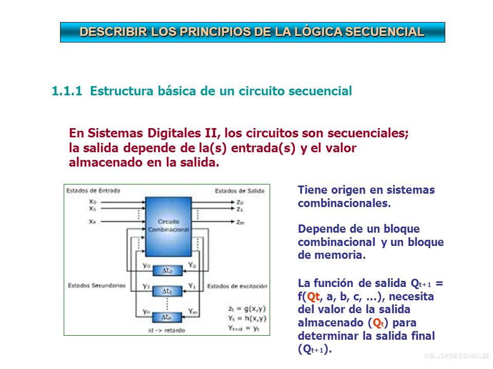 DESCRIBIR LOS PRINCIPIOS DE LA LÓGICA SECUENCIAL