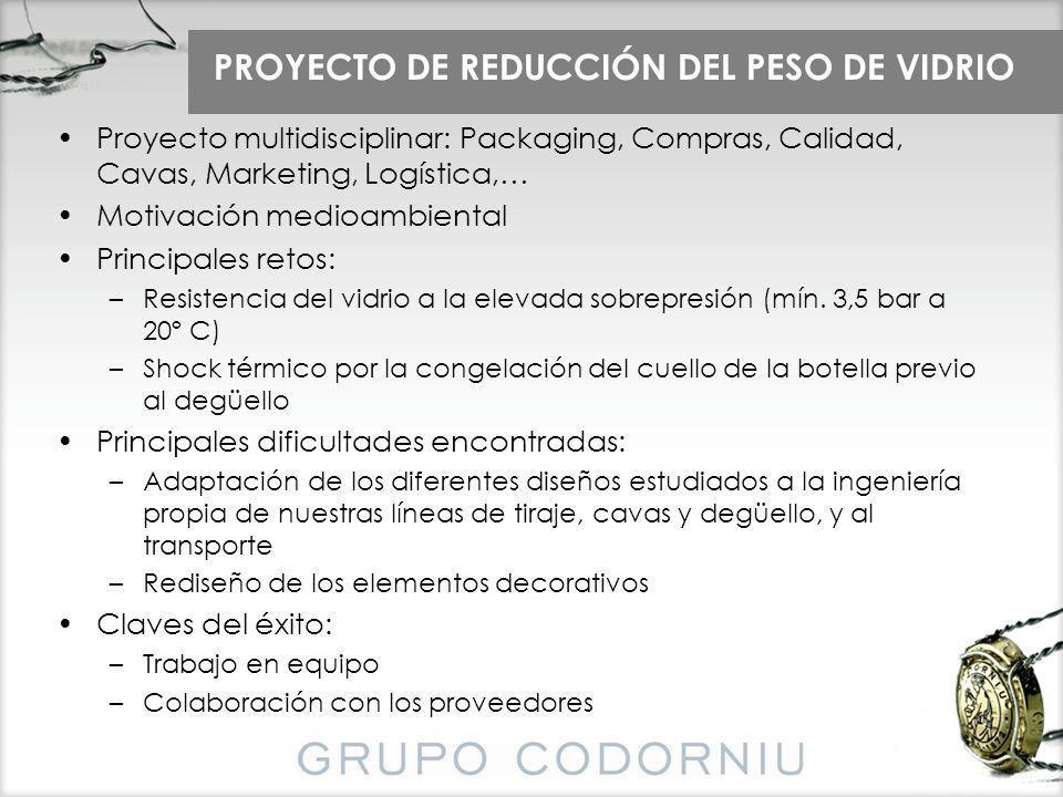 PROYECTO DE REDUCCIÓN DEL PESO DE VIDRIO