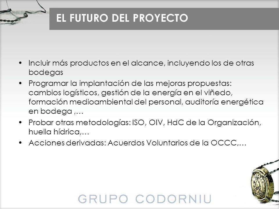 EL FUTURO DEL PROYECTO Incluir más productos en el alcance, incluyendo los de otras bodegas.