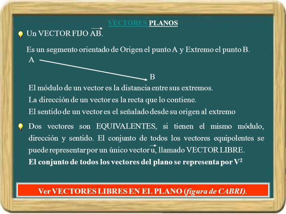Ver VECTORES LIBRES EN EL PLANO (figura de CABRI).