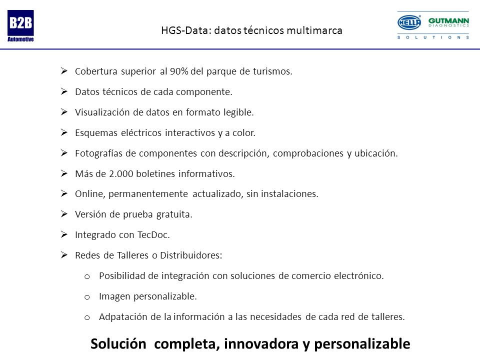HGS-Data: datos técnicos multimarca