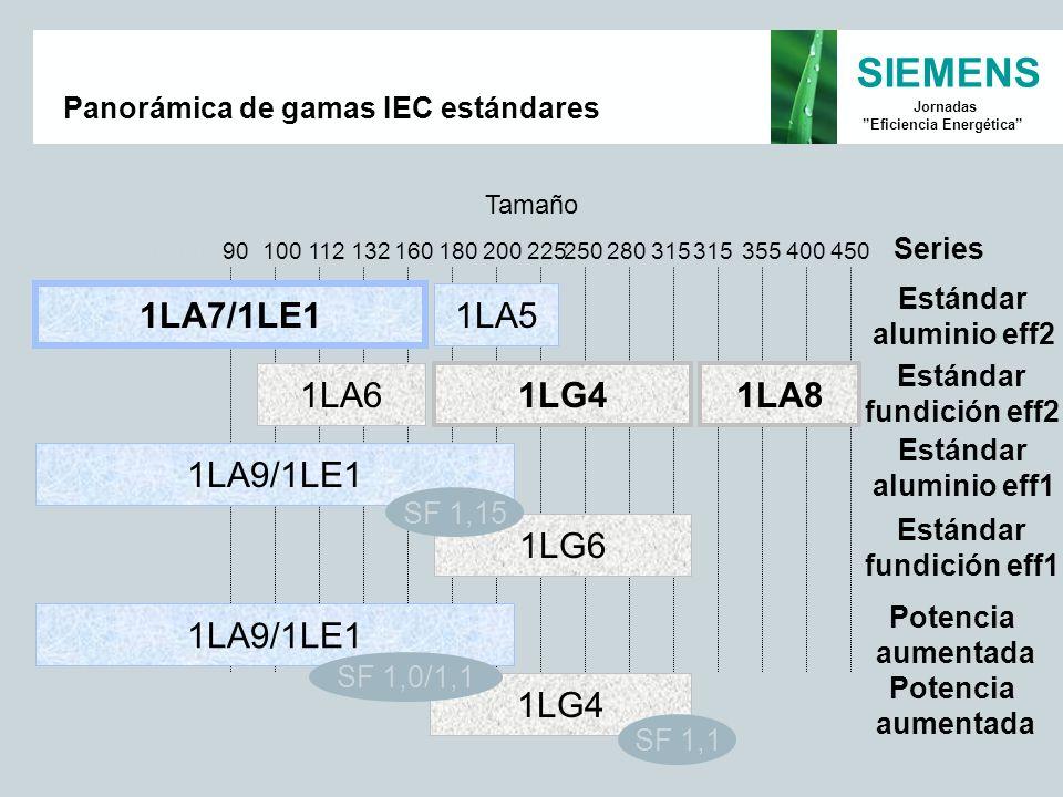 Panorámica de gamas IEC estándares