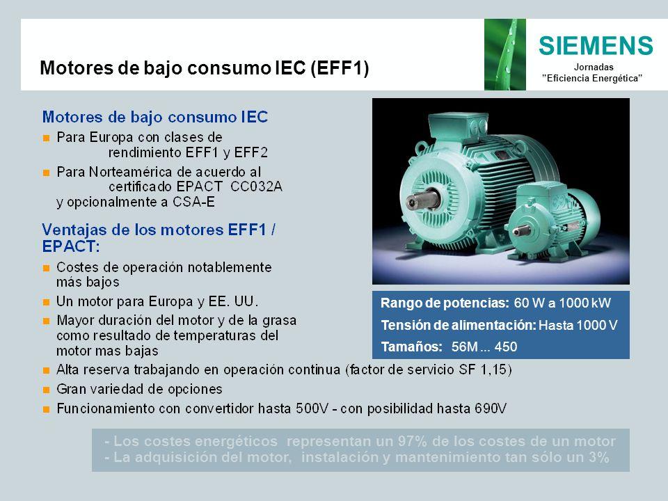Motores de bajo consumo IEC (EFF1)