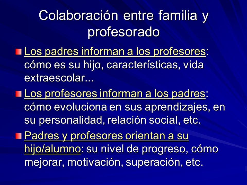 Colaboración entre familia y profesorado