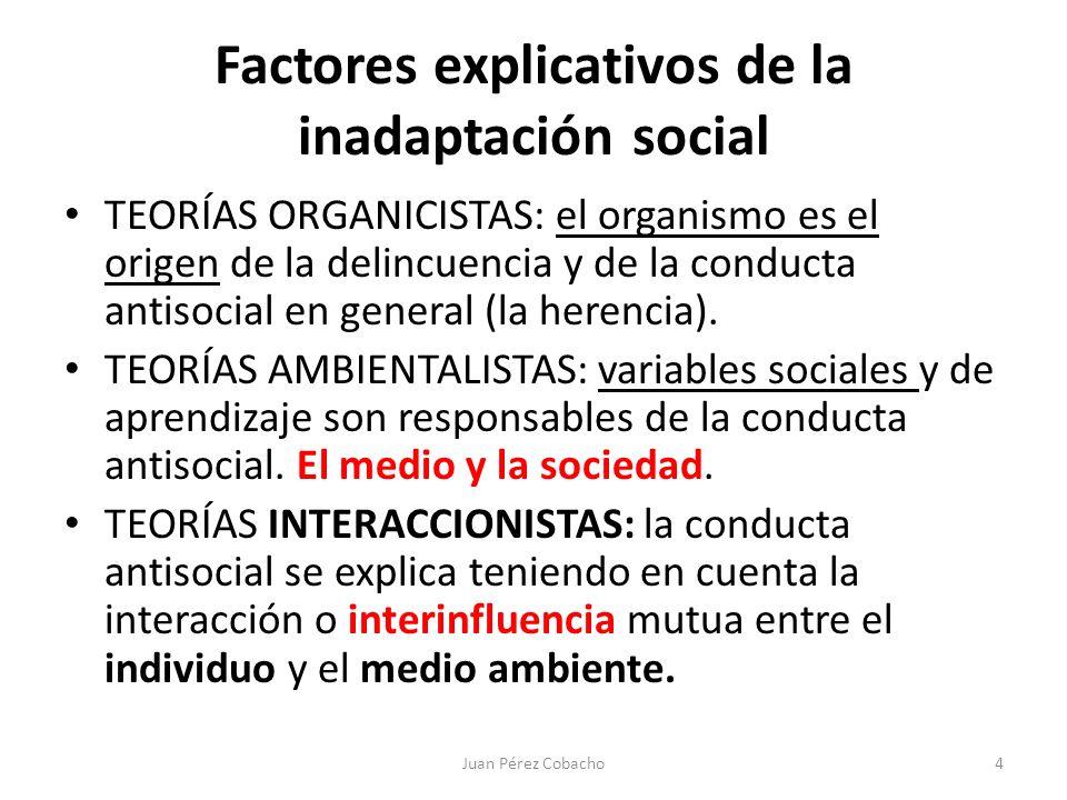 Factores explicativos de la inadaptación social