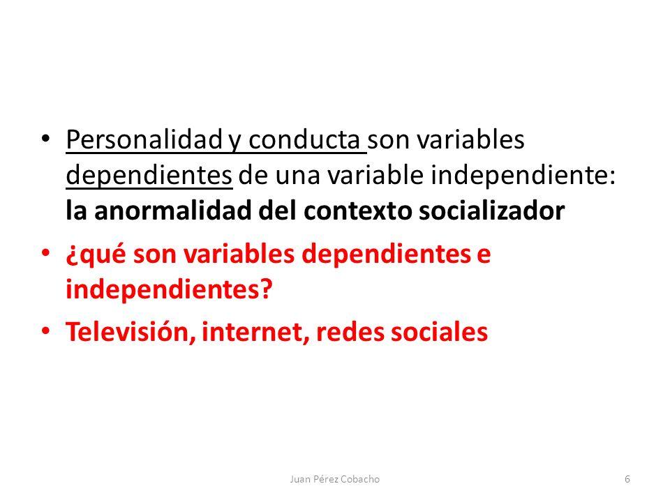 ¿qué son variables dependientes e independientes