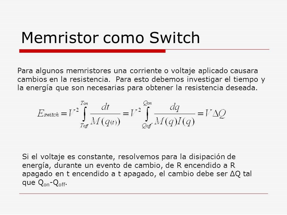 Memristor como Switch