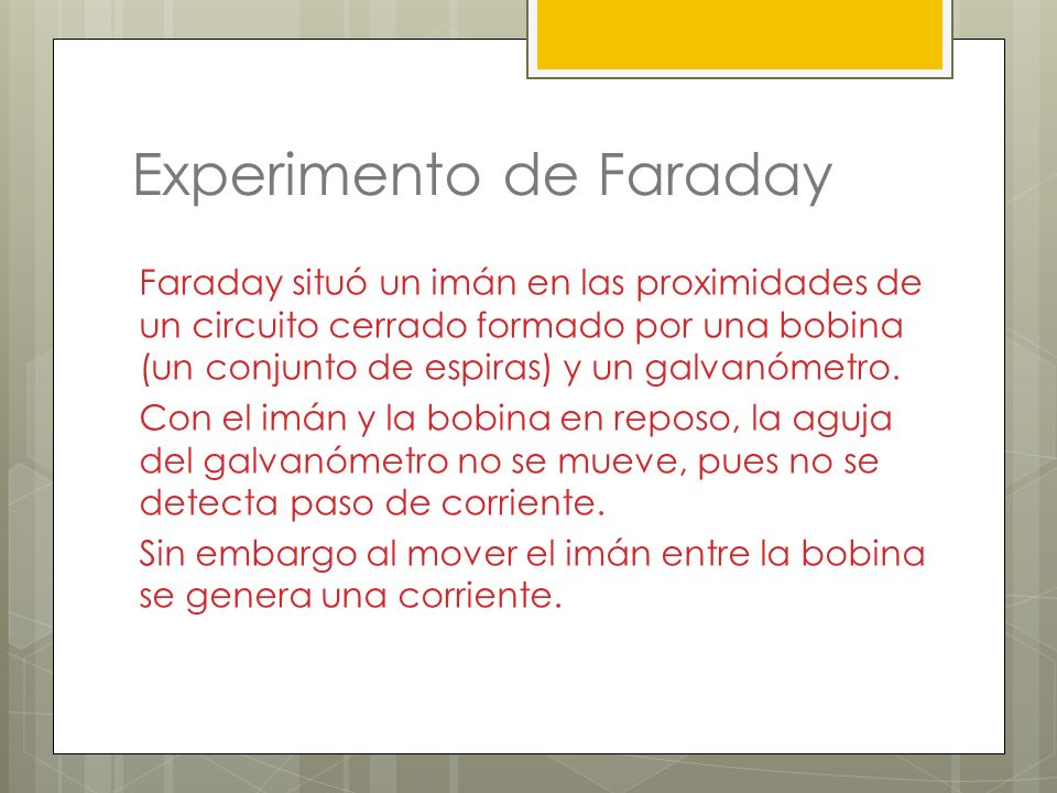 Experimento de Faraday