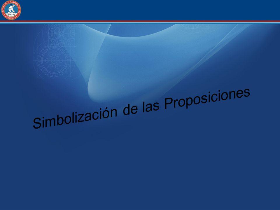 Simbolización de las Proposiciones