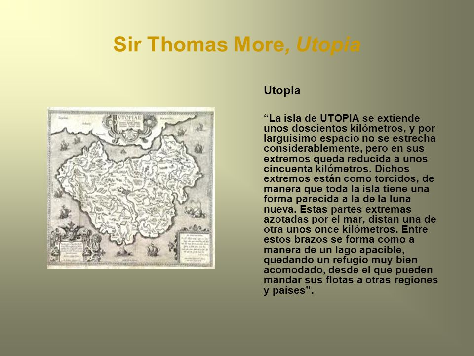 Sir Thomas More, Utopia Utopia