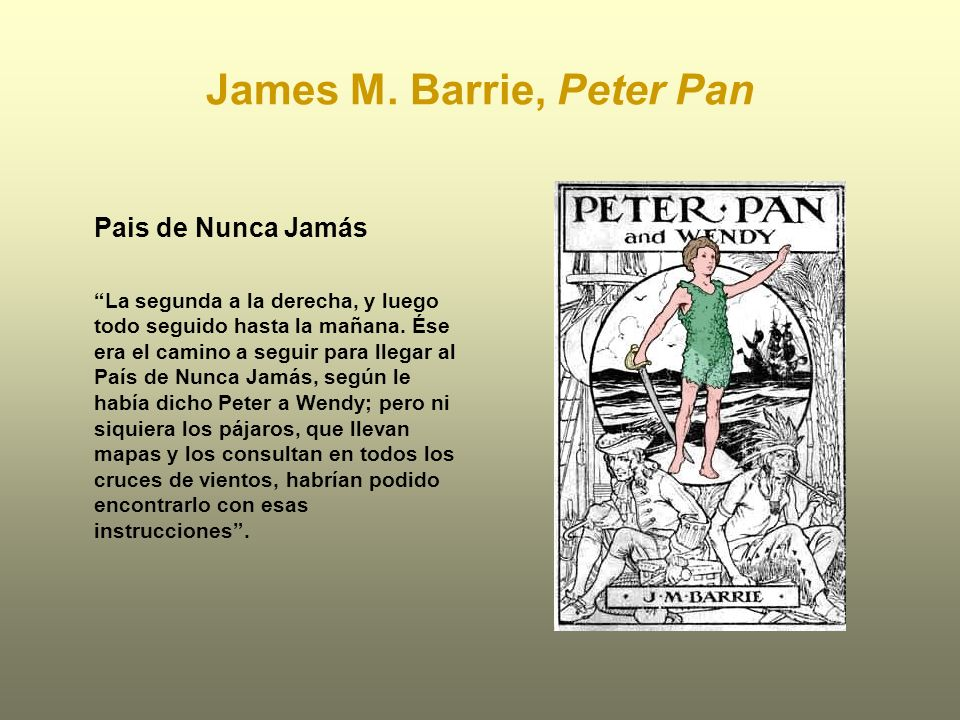 James M. Barrie, Peter Pan