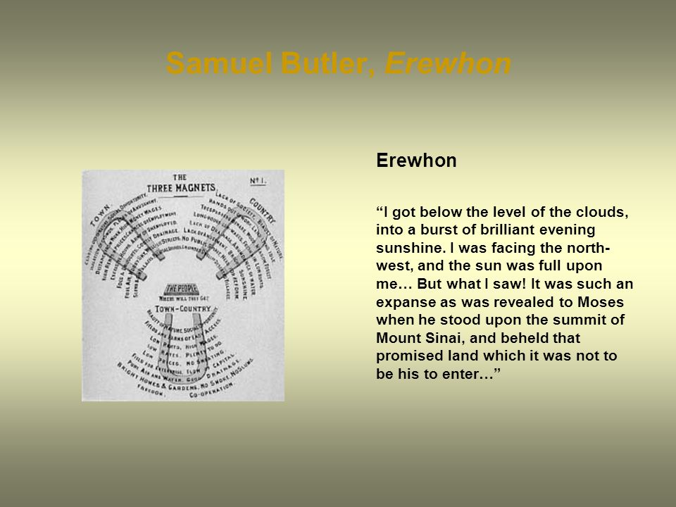 Samuel Butler, Erewhon Erewhon