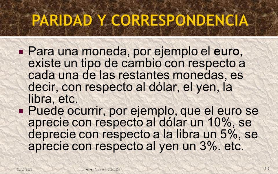 PARIDAD Y CORRESPONDENCIA
