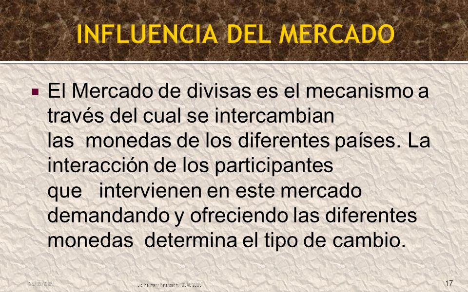 INFLUENCIA DEL MERCADO