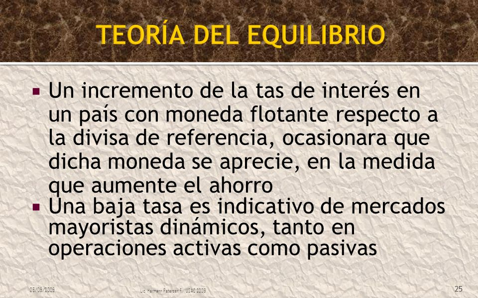 TEORÍA DEL EQUILIBRIO