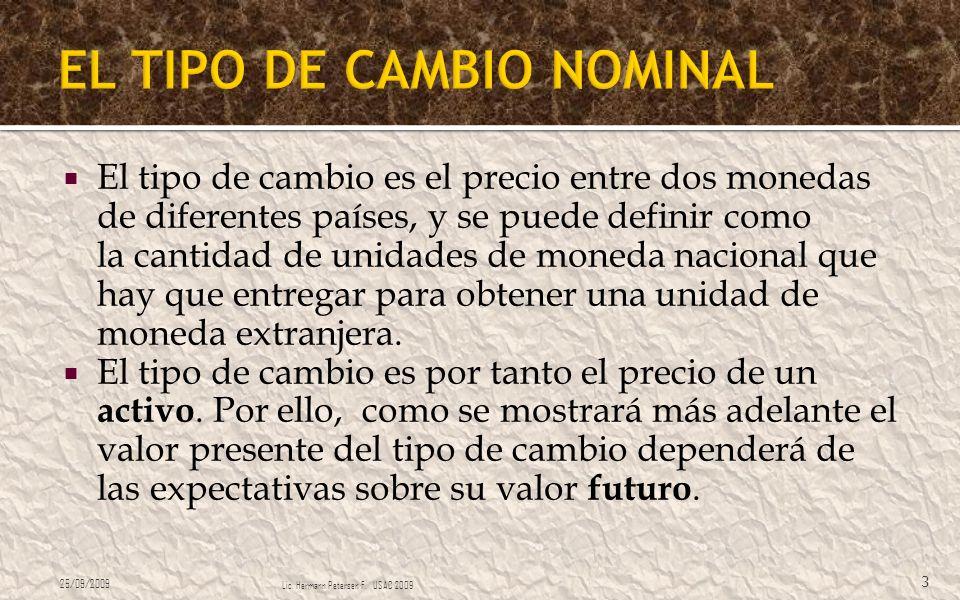 EL TIPO DE CAMBIO NOMINAL