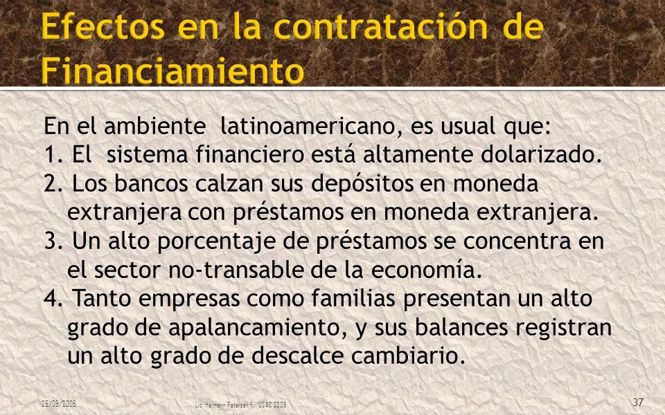 Efectos en la contratación de Financiamiento