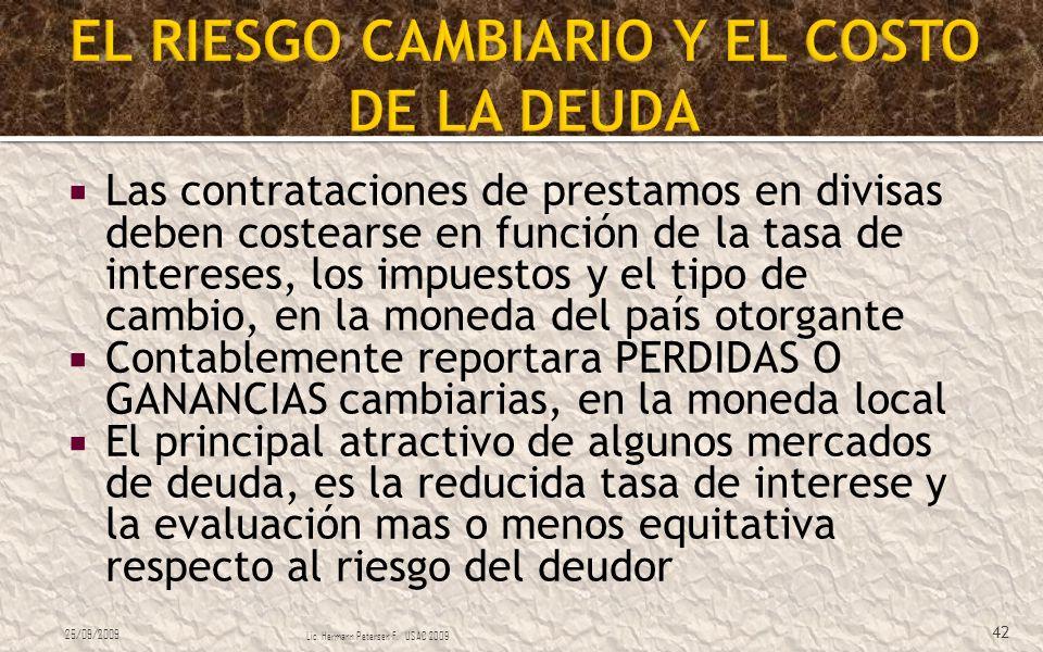 EL RIESGO CAMBIARIO Y EL COSTO DE LA DEUDA